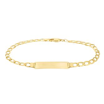 9ct Yellow Gold ID Chain Bracelet - Product number 4611500