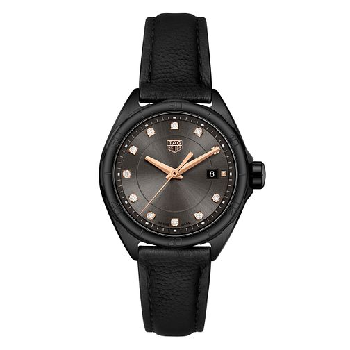 TAG Heuer Formula 1 Ladies' Black Leather Strap Watch - Product number 4611802