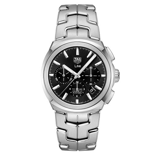 TAG Heuer Link Men's Black Chronograph Bracelet Watch - Product number 4611942