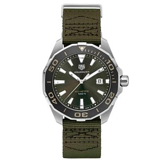 TAG Heuer Aquaracer Men's Green Strap Watch - Product number 4611993