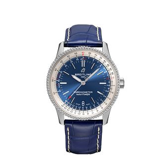 Breitling Navitimer 1 38Mm Blue Leather Strap Watch - Product number 4614410