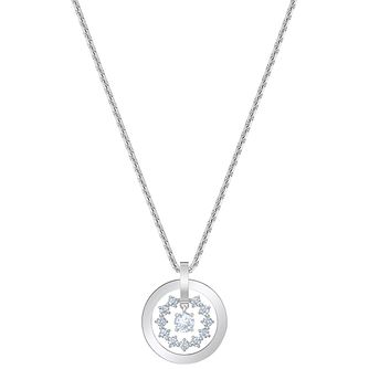Swarovski Further Rhodium Plated White Crystal Pendant - Product number 4615719
