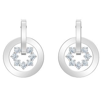 Swarovski Further Rhodium Plated Crystal Stud Earrings - Product number 4615727