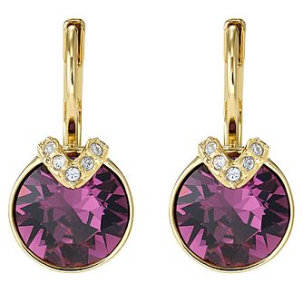 Swarovski Purple Bella Gold Tone Drop Earrings - Product number 4615816