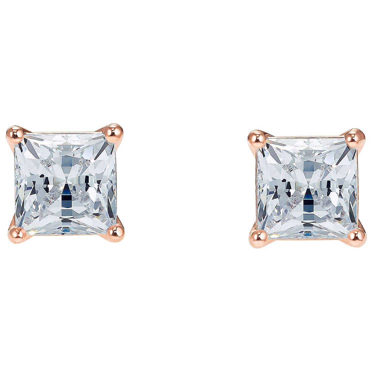 Swarovski Attract Rose Gold Plated Square Stud Earrings - Product number 4615824