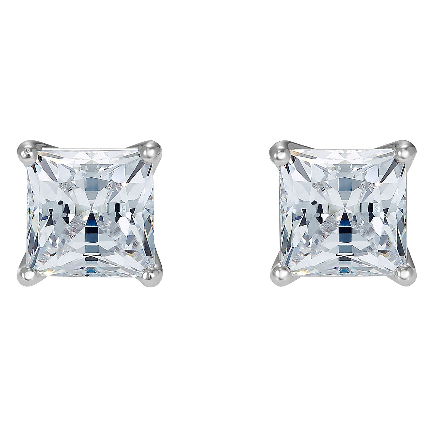 Swarovski Attract Rhodium Plated Square Stud Earrings - Product number 4615840