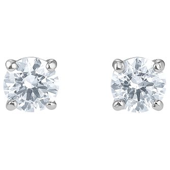 Swarovski Attract Rhodium Plated Round Stud Earrings - Product number 4615956