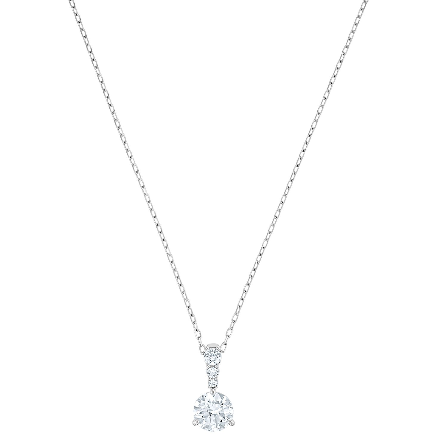 Swarovski Solitaire Rhodium Plated Pendant - Product number 4616014