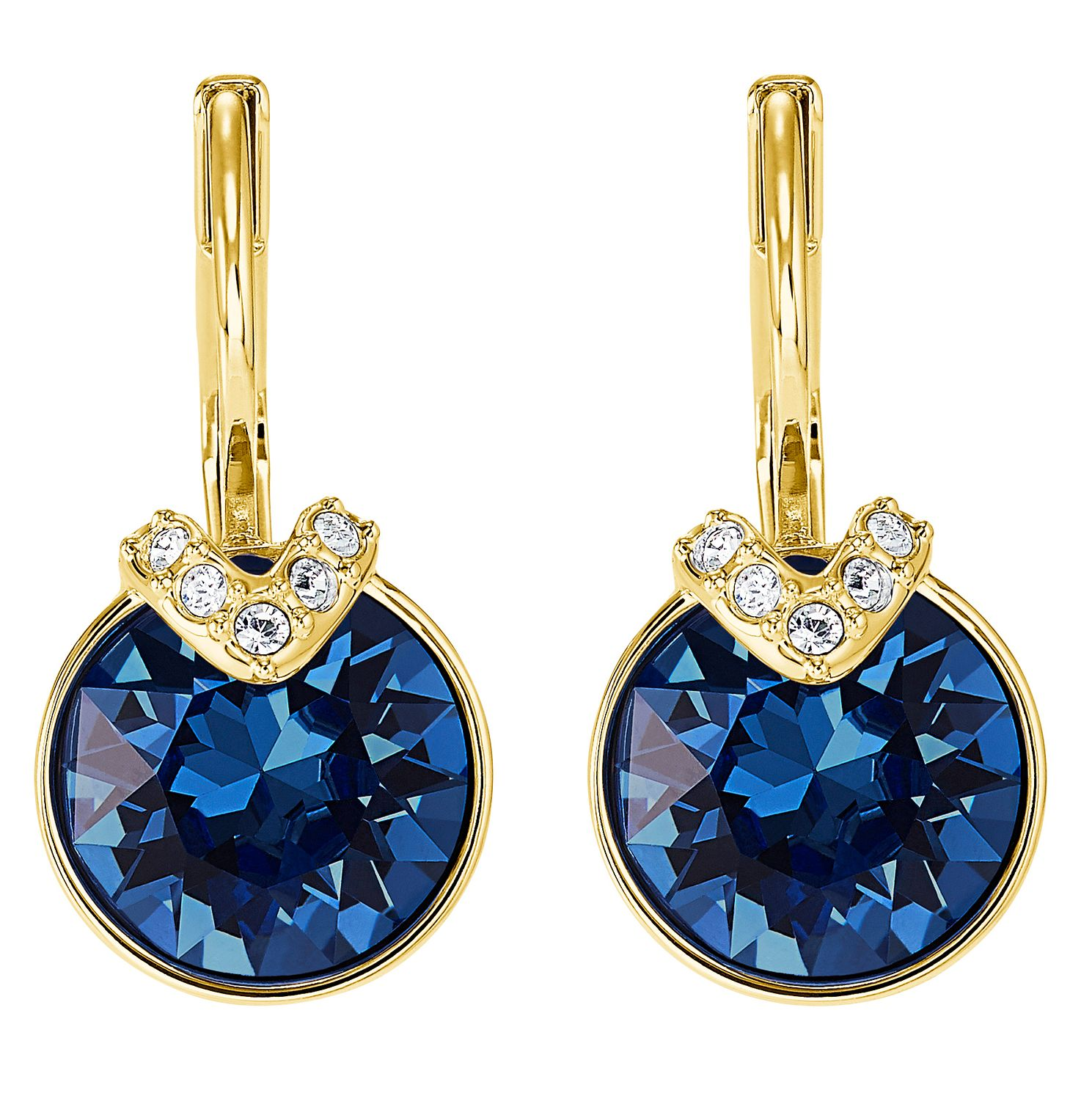 Swarovski Blue Bella Gold Tone Drop Earrings - Product number 4616103