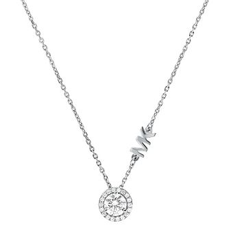 Michael Kors Custom Silver Cubic Zirconia Necklace - Product number 4616820