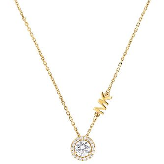 Michael Kors Custom Yellow Gold Tone Cubic Zirconia Necklace - Product number 4617231