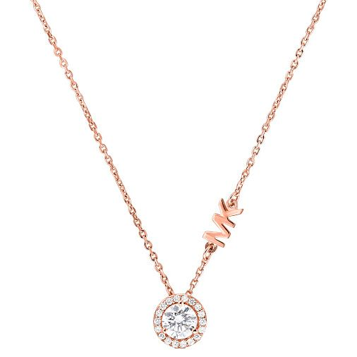 Michael Kors Custom Rose Gold Tone Cubic Zirconia Necklace - Product number 4617282