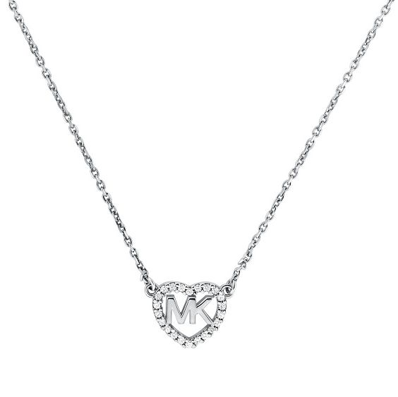 Michael Kors Love Silver Cubic Zirconia Necklace - Product number 4617339