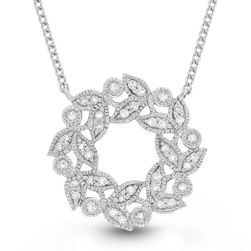 Neil Lane Silver 0.14ct Diamond Circle Pendant - Product number 4617843