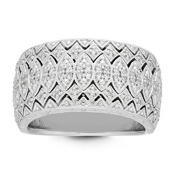 Neil Lane Silver 1/4ct Diamond Ring - Product number 4617959