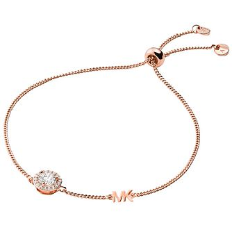 Michael Kors 14ct Rose Gold Plated Halo Slider Bracelet - Product number 4618467