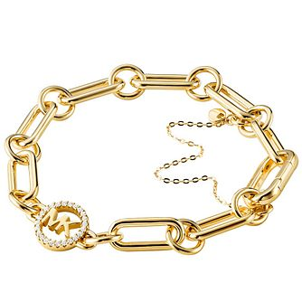 Michael Kors Custom Kors Yellow Gold Plated Charm Bracelet - Product number 4618483