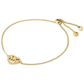 Michael Kors Love Yellow Gold Tone Cubic Zirconia Bracelet - Product number 4618564
