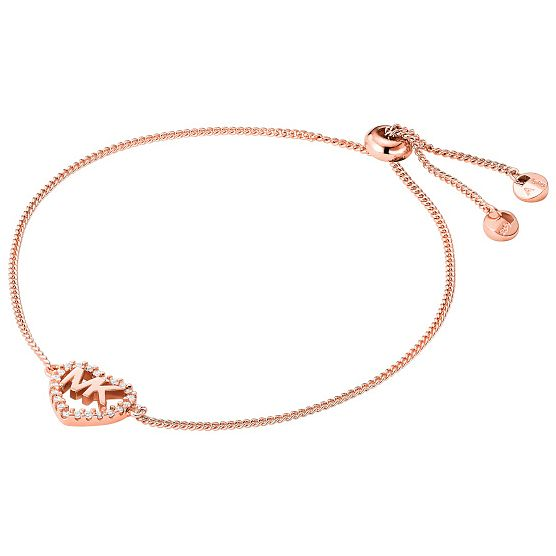 Michael Kors Love Rose Gold Tone Cubic Zirconia Bracelet - Product number 4618572