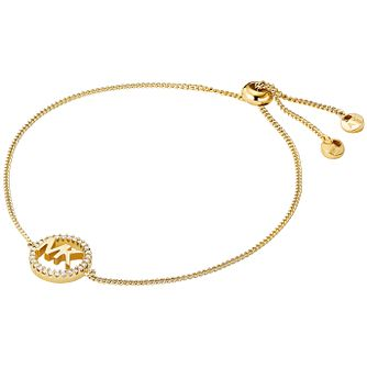 Michael Kors Love Yellow Gold Tone Cubic Zirconia Bracelet - Product number 4618599