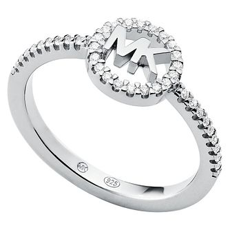 Michael Kors Love Silver Cubic Zirconia Ring - L - Product number 4618637