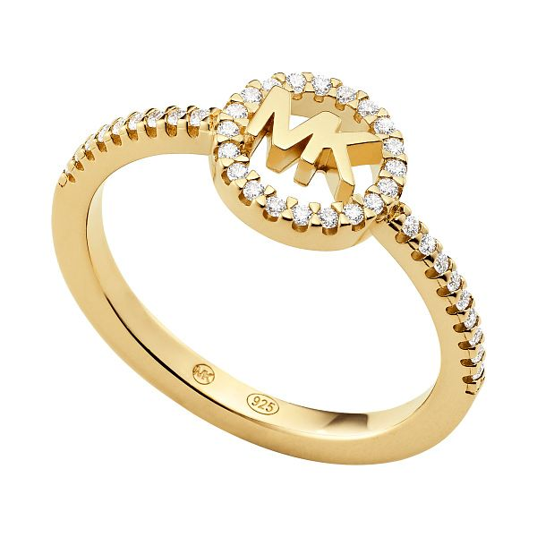Michael Kors Love Yellow Gold Tone Cubic Zirconia Ring - L - Product number 4618653
