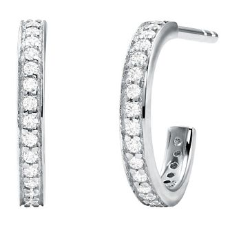 Michael Kors Mercer Link Silver Cubic Zirconia Hoop Earrings - Product number 4618718