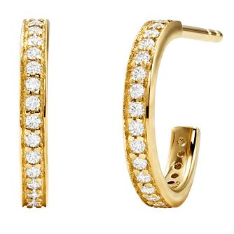 Michael Kors Mercer Link Yellow Gold Plated Hoop Earrings - Product number 4618726