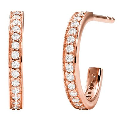 Michael Kors Mercer Link Rose Gold Plated Hoop Earrings - Product number 4618815