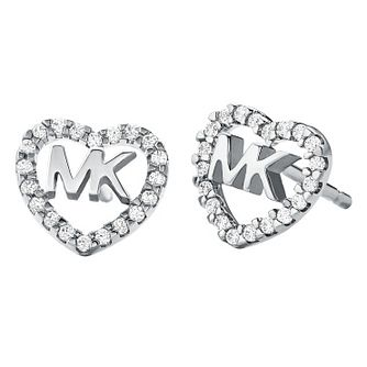 Michael Kors Love Silver Cubic Zirconia Earrings - Product number 4618823