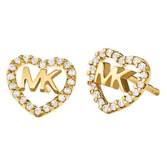 Michael Kors Love Yellow Gold Tone Cubic Zirconia Earrings - Product number 4618866