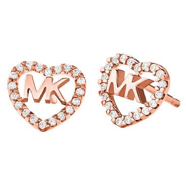 Michael Kors Love Rose Gold Tone Cubic Zirconia Earrings - Product number 4618874