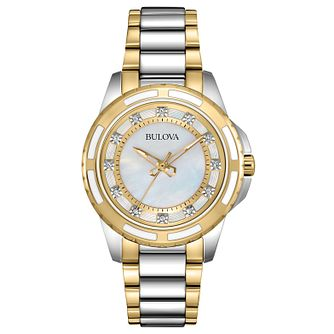Bulova Classic Diamond Ladies' Two Tone Bracelet Watch - Product number 4619676