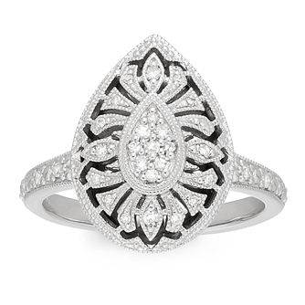 Neil Lane 0.15ct Diamond Pear Shaped Cluster Ring - Product number 4621220