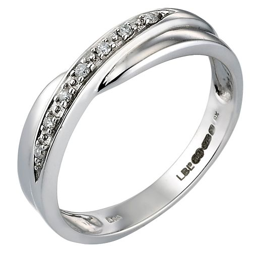 9ct White Gold Diamond Wedding Ring - Product number 4621956