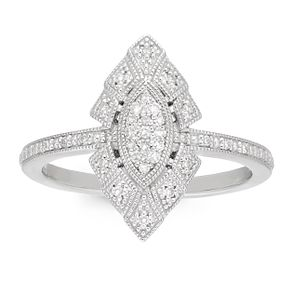 Neil Lane 0.10ct Diamond Marquise Shaped Cluster Ring - Product number 4622928