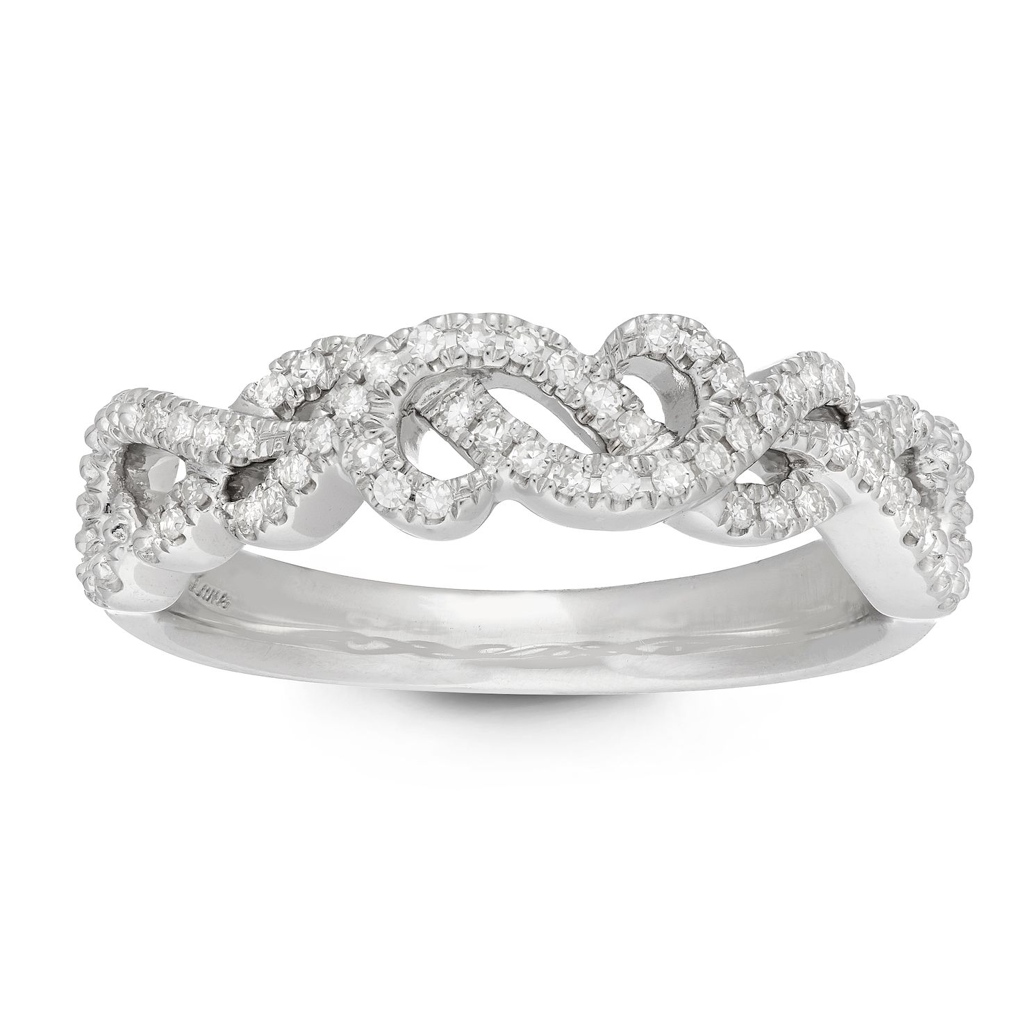 Neil Lane Designs Silver 0.15ct Diamond Twist Ring - Product number 4623045