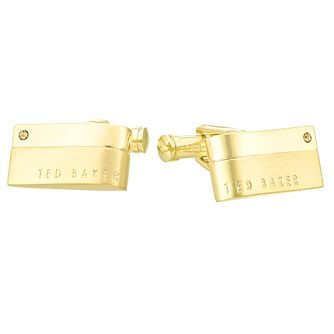 Ted Baker Yellow Gold Plated Rectangle Cufflinks - Product number 4624572