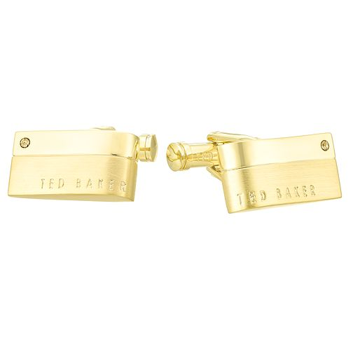 Ted Baker Brass Rectangle Cufflinks - Product number 4624572