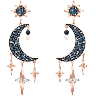 Swarovski Symbolic Moon Rose Gold Tone Drop Earrings - Product number 4624904