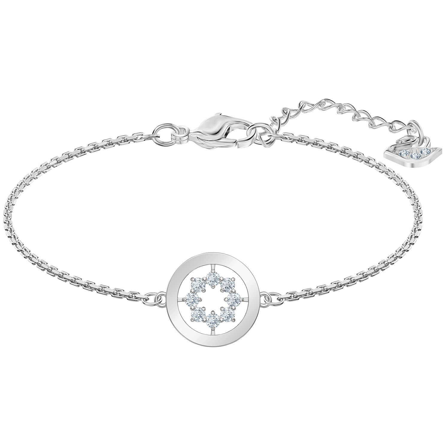 Swarovski Further Rhodium Plated White Crystal Bracelet - Product number 4624947