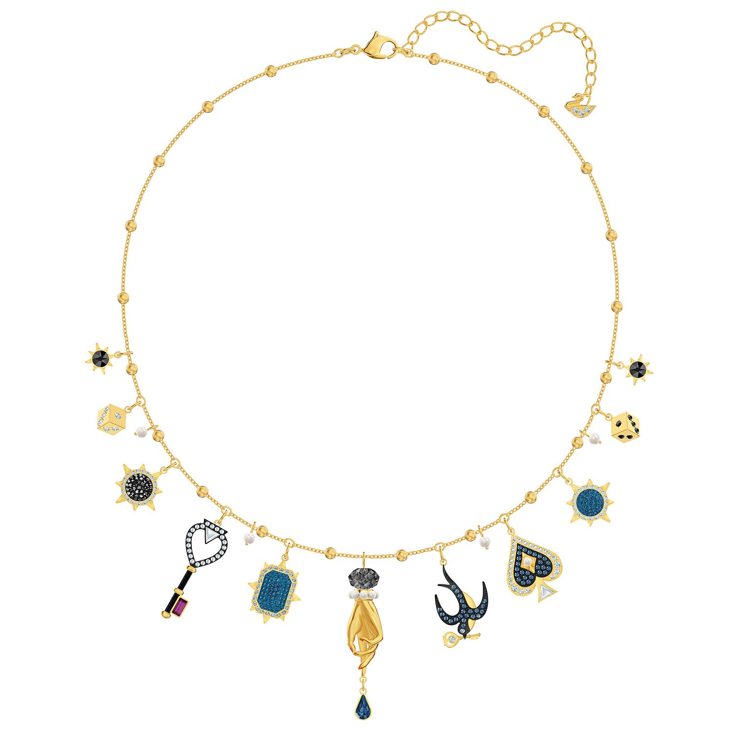Swarovski Blue Tarot Magic Gold Tone Charm Necklace - Product number 4624963