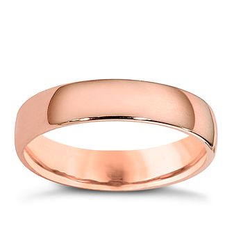9ct rose gold 4mm extra heavyweight court ring - Product number 4629159