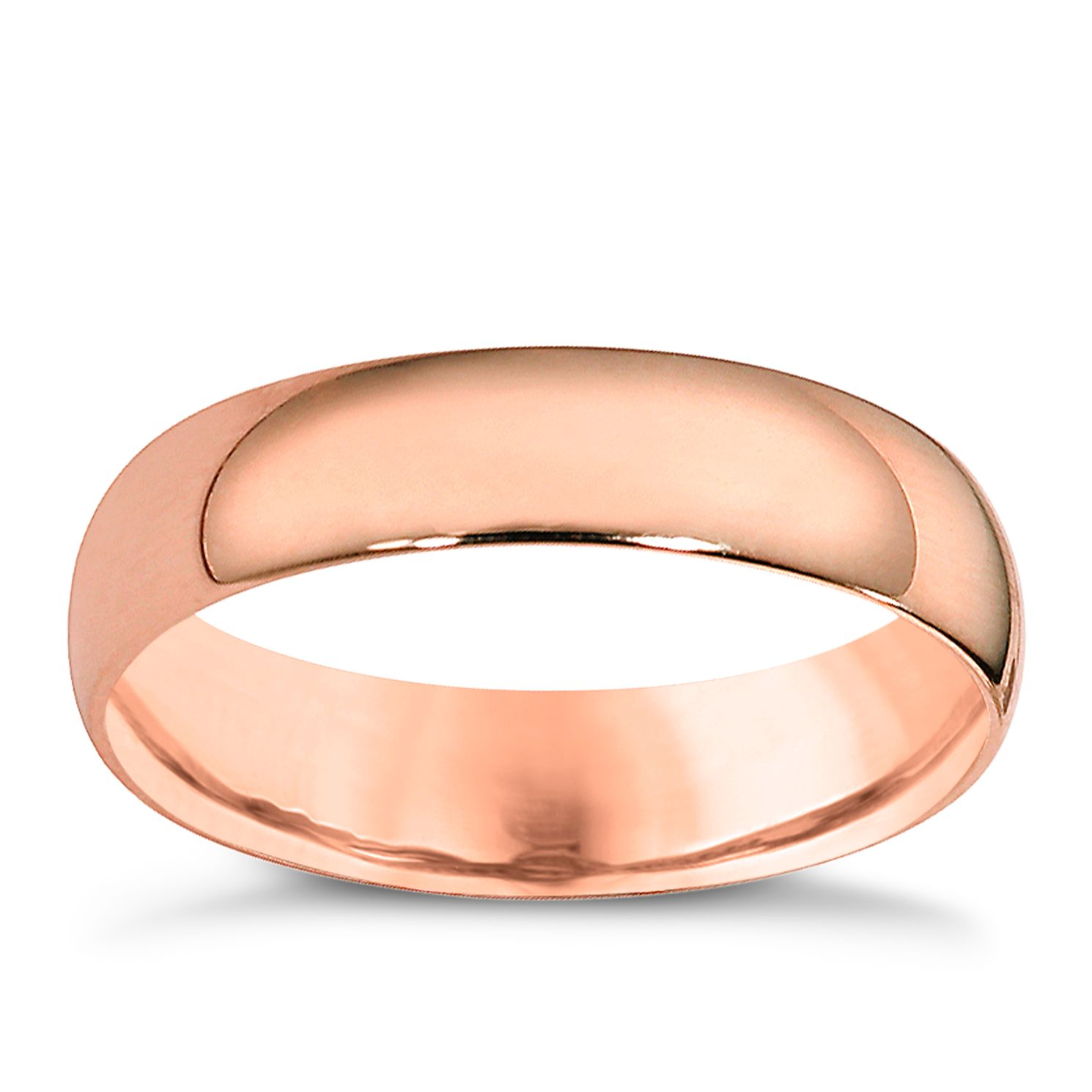 9ct Rose Gold 5mm Extra Heavyweight Court Ring - Product number 4629892