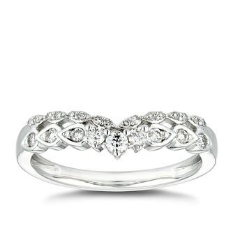 18ct White Gold 1/5ct Diamond Double Row Wedding Ring - Product number 4630181
