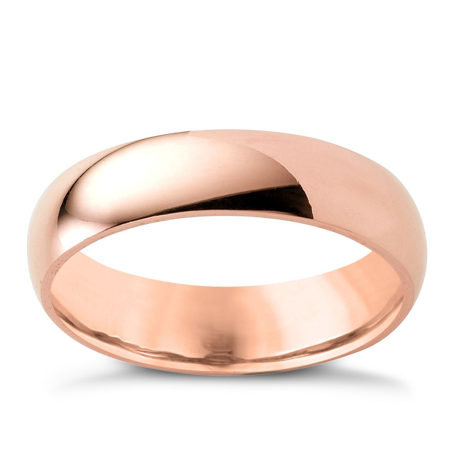 9ct Rose Gold 5mm Super Heavyweight Court Ring - Product number 4633288