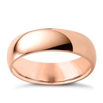 9ct Rose Gold 6mm Super Heavyweight Court Ring - Product number 4633598