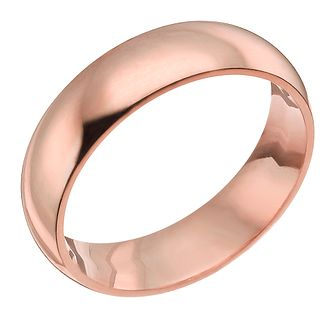 9ct Rose Gold 7mm Super Heavyweight Court Ring - Product number 4633903