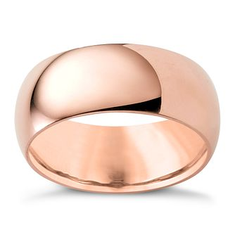 9ct Rose Gold 8mm Super Heavyweight Court Ring - Product number 4634322