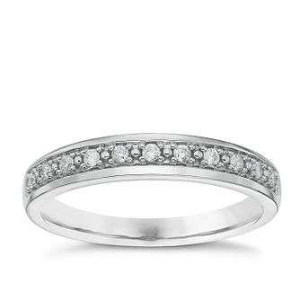 Platinum 0.10ct Diamond Wedding Band - Product number 4637100